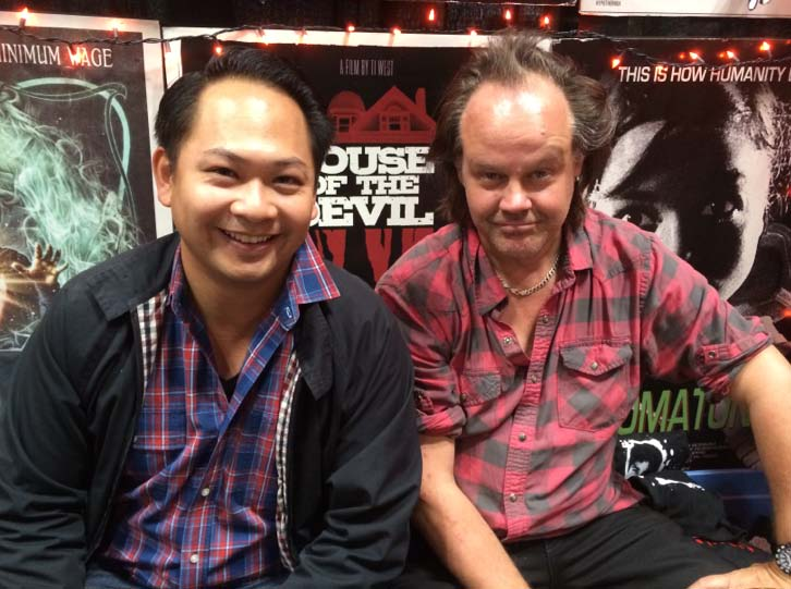 Producer Peter Phok and Fessenden at NYCC