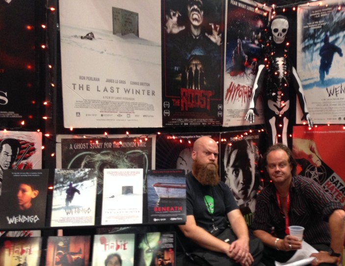 Director James Felix McKenney and Fessenden at NYCC
